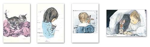 中身の見開き:酒井駒子ポストカード4枚セット