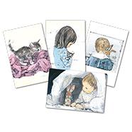 表紙:酒井駒子ポストカード4枚セット