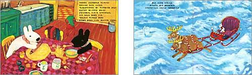 中身の見開き:リサとサンタクロース